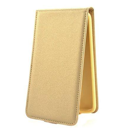 Etui na telefon iPhone 6 / 6s - kabura z klapką - złoty