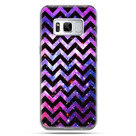Etui na telefon Samsung Galaxy S8 - zig zag galaktyka