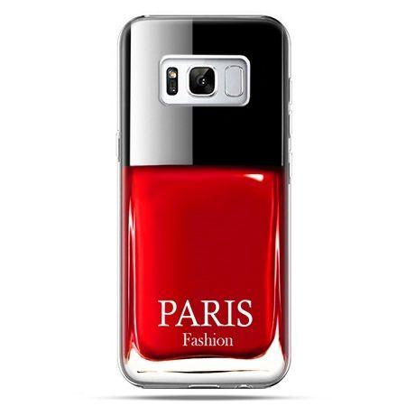 Etui na telefon Samsung Galaxy S8 - lakier do paznokci czerwony