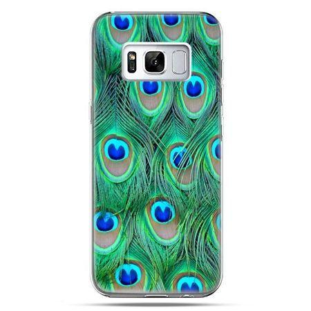 Etui na telefon Samsung Galaxy S8 - pawie pióra