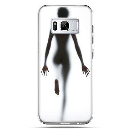 Etui na telefon Samsung Galaxy S8 - kobieta za szybą