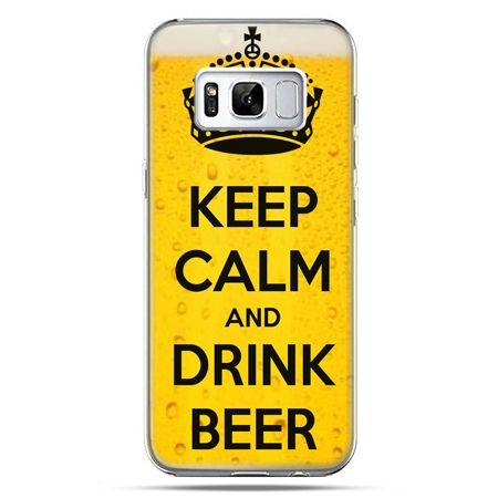Etui na telefon Samsung Galaxy S8 - Keep calm and drink beer