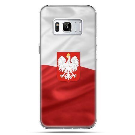 Etui na telefon Samsung Galaxy S8 Plus - flaga Polski z godłem