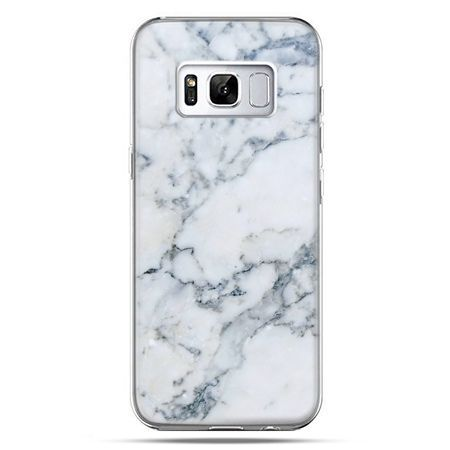 Etui na telefon Samsung Galaxy S8 Plus - biały marmur