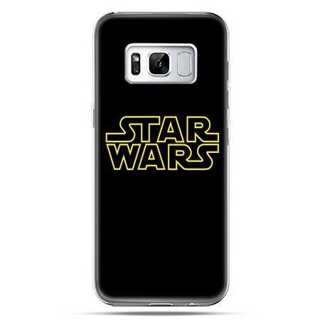 Etui na telefon Samsung Galaxy S8 Plus - Star Wars złoty napis