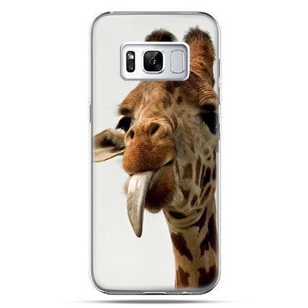 Etui na telefon Samsung Galaxy S8 Plus - żyrafa z językiem