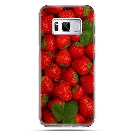 Etui na telefon Samsung Galaxy S8 Plus - czerwone truskawki