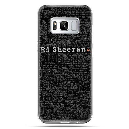 Etui na telefon Samsung Galaxy S8 Plus - ED Sheeran czarne poziome