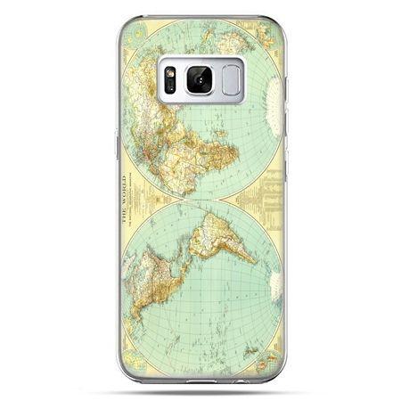 Etui na telefon Samsung Galaxy S8 Plus - mapa świata