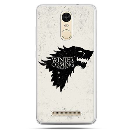 Etui na Xiaomi Redmi Note 3 - Gra o Tron Winter is coming czarna