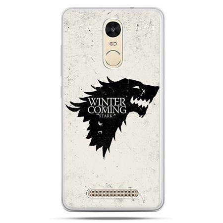 Etui na Xiaomi Redmi Note 3 - Gra o Tron Winter is coming czarna