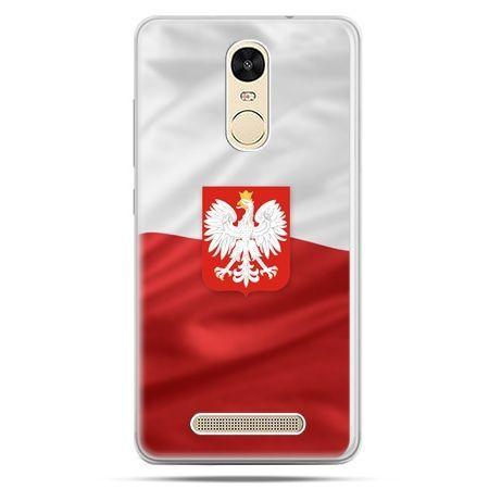 Etui na Xiaomi Redmi Note 3 - flaga Polski z godłem