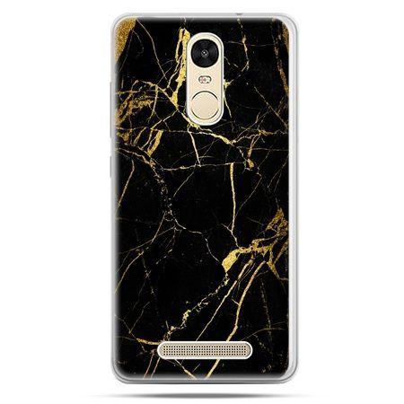 Etui na Xiaomi Redmi Note 3 - złoty marmur