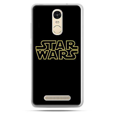 Etui na Xiaomi Redmi Note 3 - Star Wars złoty napis