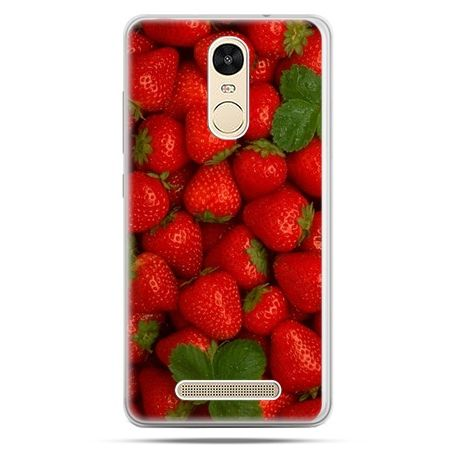 Etui na Xiaomi Redmi Note 3 - czerwone truskawki
