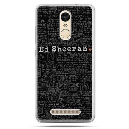 Etui na Xiaomi Redmi Note 3 - ED Sheeran czarne poziome