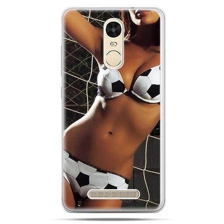 Etui na Xiaomi Redmi Note 3 - kobieta w bikini football