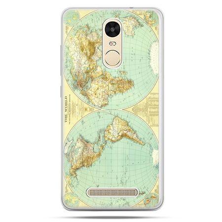 Etui na Xiaomi Redmi Note 3 - mapa świata
