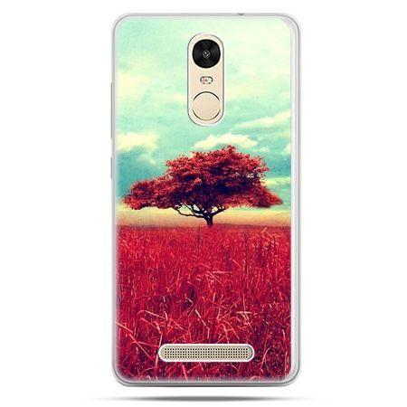 Etui na Xiaomi Redmi Note 3 - czerwone drzewo