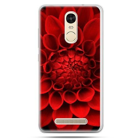 Etui na Xiaomi Redmi Note 3 - czerwona dalia