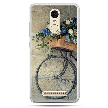 Etui na Xiaomi Redmi Note 3 - rower z kwiatami