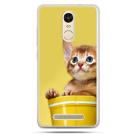 Etui na Xiaomi Redmi Note 3 - kot w doniczce