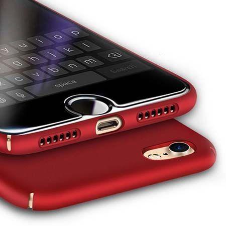 Etui na telefon iPhone 7 Slim MattE - czerwony.