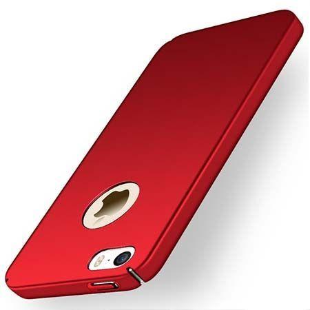Etui na telefon iPhone SE Slim MattE - czerwony.