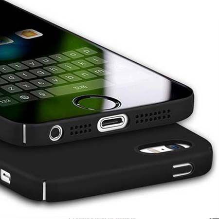 Etui na telefon iPhone SE Slim MattE - czarny.