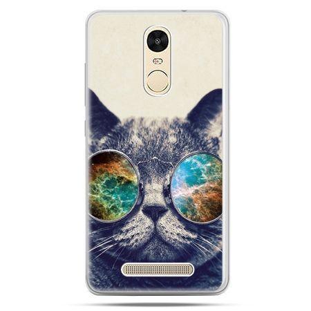 Etui na Xiaomi Redmi Note 3 - kot w tęczowych okularach
