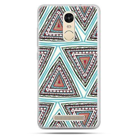 Etui na Xiaomi Redmi Note 3 - Azteckie trójkąty