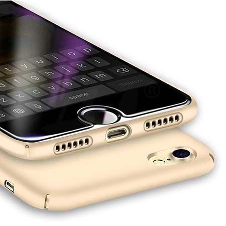 Etui na telefon iPhone 7 SLim MattE - złoty.