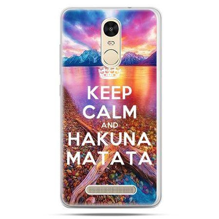 Etui na Xiaomi Redmi Note 3 - Keep Calm and Hakuna Matata