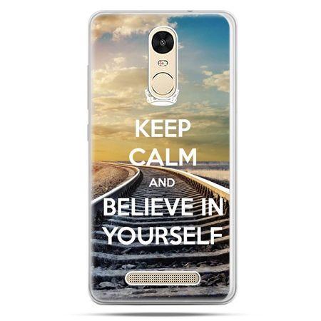Etui na Xiaomi Redmi Note 3 - Keep Calm and Believe in Yourself