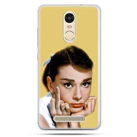Etui na Xiaomi Redmi Note 3 - Audrey Hepburn Fuck You