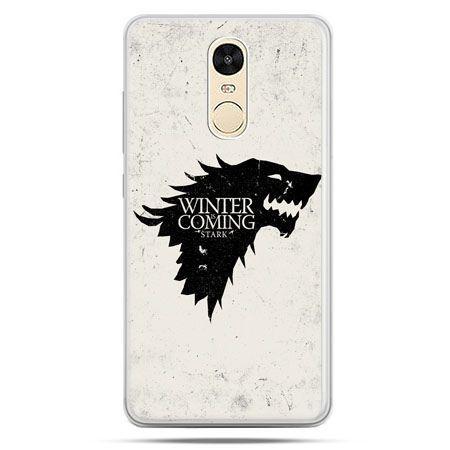 Etui na Xiaomi Redmi Note 4 - Gra o Tron Winter is coming czarna