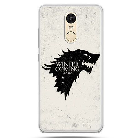 Etui na Xiaomi Redmi Note 4 - Gra o Tron Winter is coming czarna