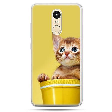 Etui na Xiaomi Redmi Note 4 - kot w doniczce
