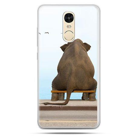 Etui na Xiaomi Redmi Note 4 - zamyślony słoń