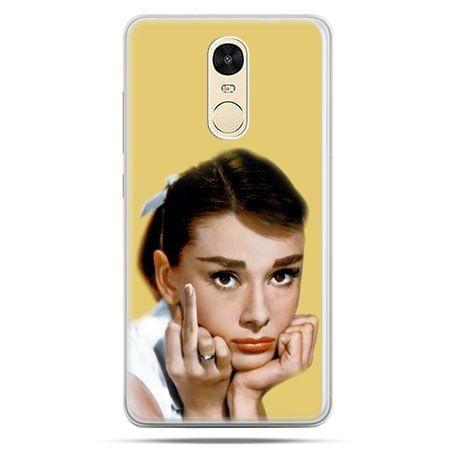 Etui na Xiaomi Redmi Note 4 - Audrey Hepburn Fuck You
