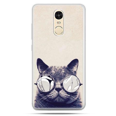 Etui na Xiaomi Redmi Note 4 - kot w okularach