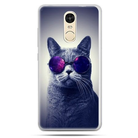Etui na Xiaomi Redmi Note 4 - kot hipster w okularach