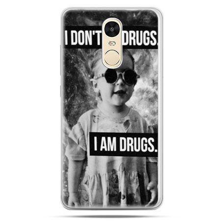 Etui na Xiaomi Redmi Note 4 - I don`t do drugs I am drugs