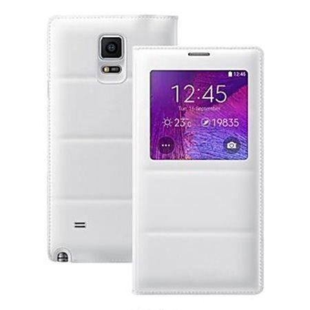 Etui na Galaxy Note 4 Flip S View z klapką - biały.