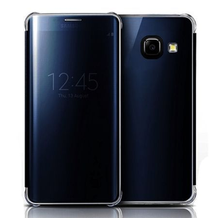 Etui na Galaxy A5 2017 Flip Clear View z klapką - granatowy.