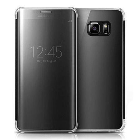 Galaxy S6 Edge etui Flip Clear View czarny