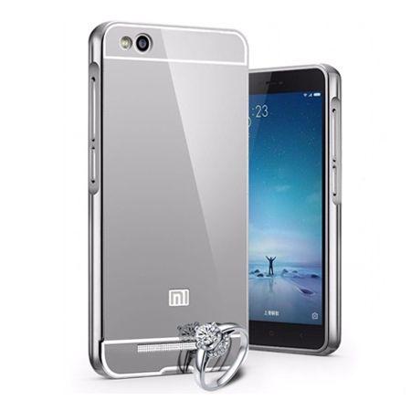 Mirror bumper case na Xiaomi Redmi 4A - srebrny.