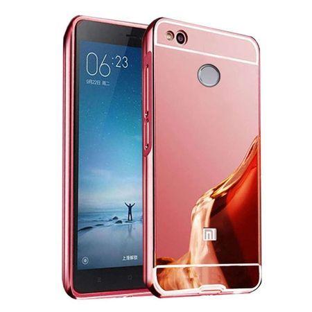 Mirror bumper case na Xiaomi Redmi 4X - różowy.