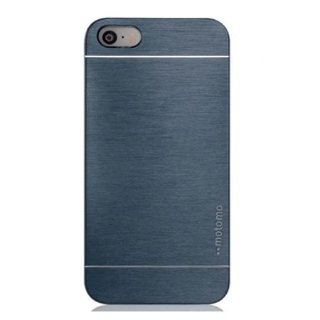 iPhone 5 / 5s etui Motomo aluminiowe - niebieski.