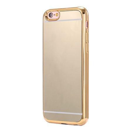 Etui na iPhone 6 / 6s platynowane FullSoft lustro - złoty.